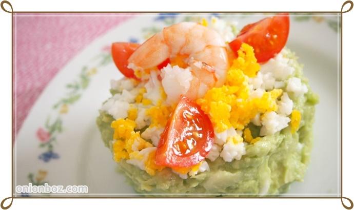 キャベツとアボカドのサラダケーキ☆